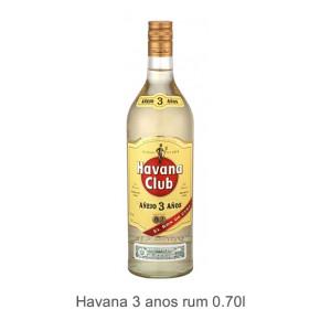 Havana 3 anos rum
